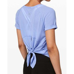 Lulu Open Up Tie Back Tee Hydrangea Cut-Out Top 4